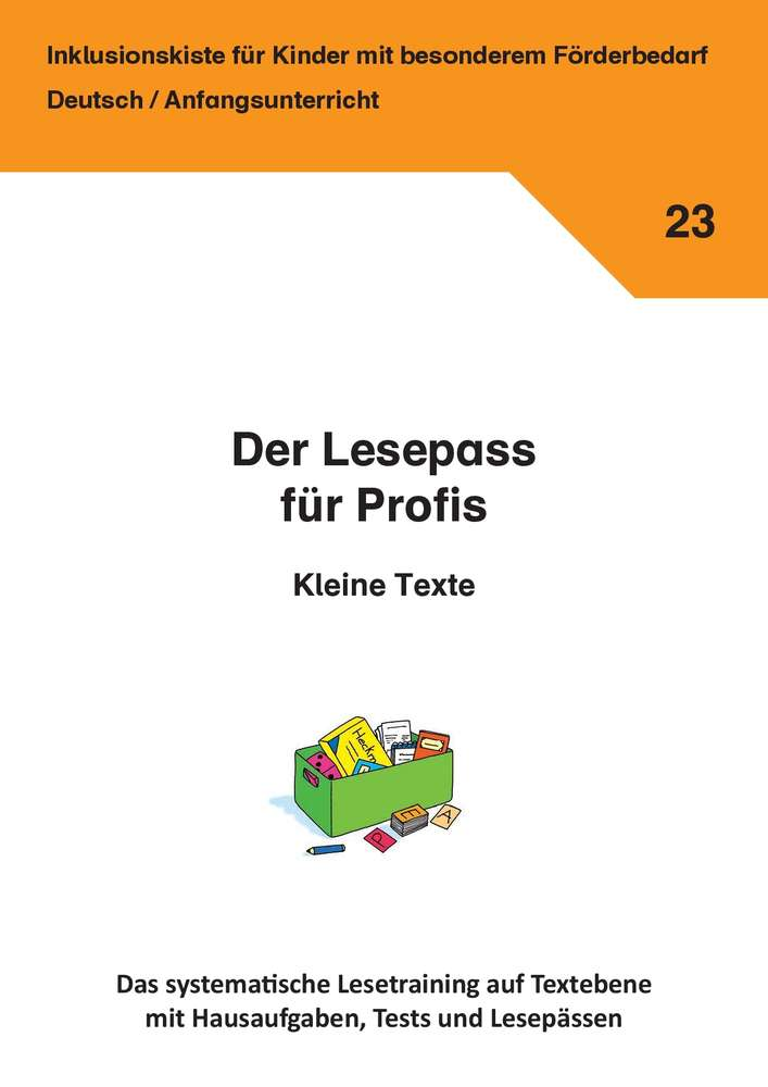 Der Lesepass Für Profis Kleine Texte Inklusionskiste